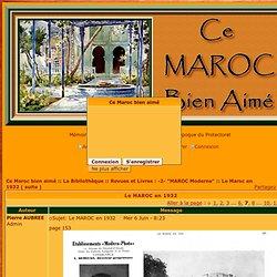 maroc - Le MAROC en 1932 - Page 7