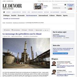 Le mensonge des pétrolières sur le climat
