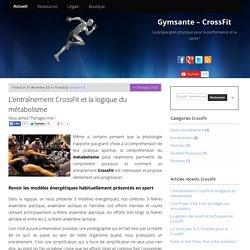 Le métabolisme au CrossFit