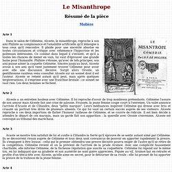 Le misanthrope, Molière - résumé
