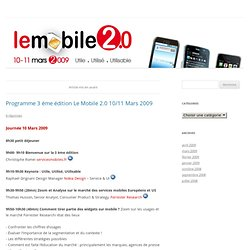 Le mobile 2.0 édition 2009