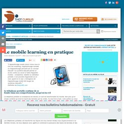 Le mobile learning en pratique