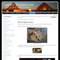 Le Mobilier en Égypte Antique