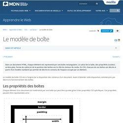 Le modèle de boîte - Apprendre le Web