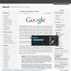 Le modèle économique de Google