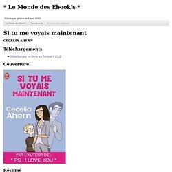 * Le Monde des Ebook's *