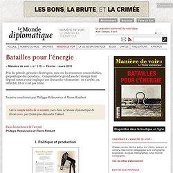 Batailles pour l'énergie janvier 2011