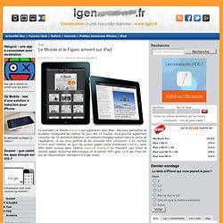 Le Monde et le Figaro arrivent sur iPad