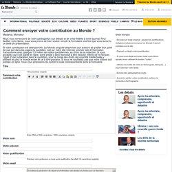 Le Monde.fr : Chroniques des Abonnés