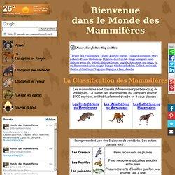Le monde des mammifères