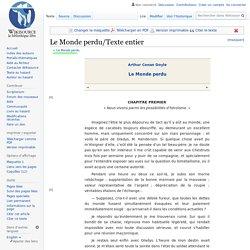 Le Monde perdu/Texte entier/ version web