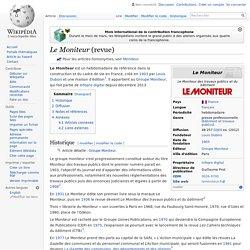 Le Moniteur (revue)