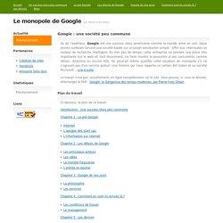 Le monopole de Google