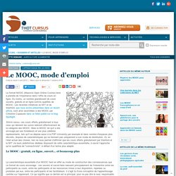 Le MOOC, mode d'emploi