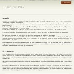 Le moteur PRV