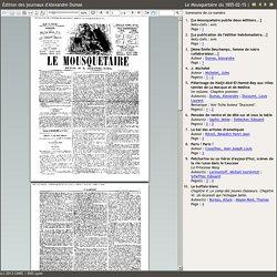 15/02/1855 Le Mousquetaire - Revue d'A.Dumas