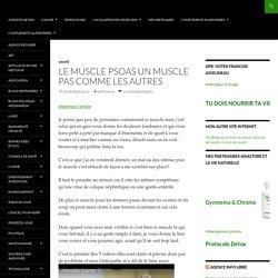 Le muscle Psoas un muscle pas comme les autres