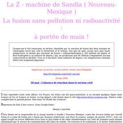Le mystère de la Z machine de Sandia