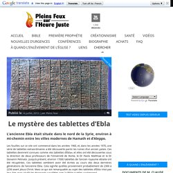 Le mystère des tablettes d'Ebla
