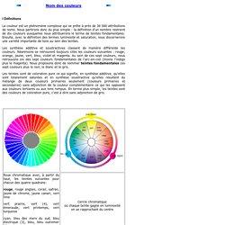 Le nom des couleurs
