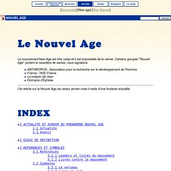 Le Nouvel Age (New Age) [info-Sectes]