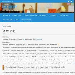Le p'tit Belge - Le prof