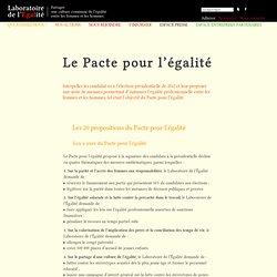 Le Pacte pour l'égalité - Laboratoire de l'Égalité