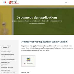 Le panneau des applications -