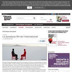 Le paradoxe RH de l'international