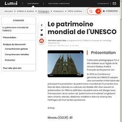 Enseignement - Le patrimoine mondial de l'UNESCO