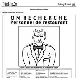 Le personnel de restaurant