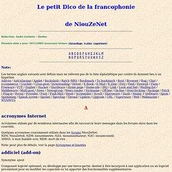 Le petit Dico de la francophonie