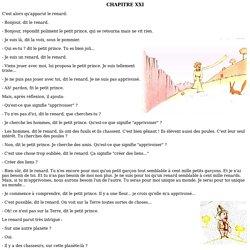 Le Petit Prince : chapitre 21