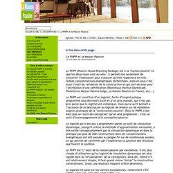 Le PHPP et la Maison Passive - lamaisonpassive.fr