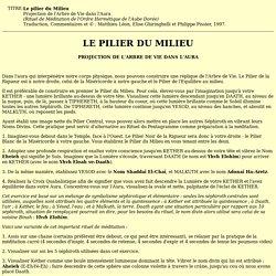 LE PILIER DU MILIEU