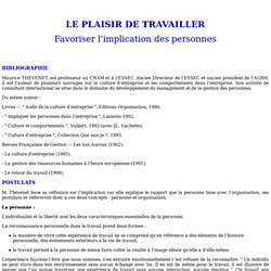 LE PLAISIR DE TRAVAILLER