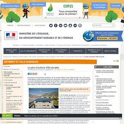 Le plan d'actions Ville durable