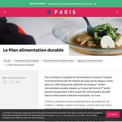 VILLE DE PARIS 26/06/15 Un plan alimentation durable pour Paris