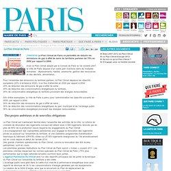 Le Plan Climat de Paris