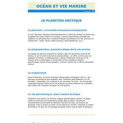 Le plancton arctique