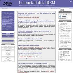 Le portail IREM