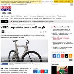Le premier vélo soudé en 3D