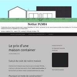 Le prix d'une maison container