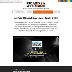 Le Prix Ricard S.A Live Music 2015