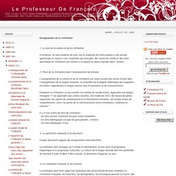 Le Professeur de Français