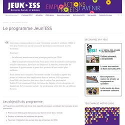Le programme Jeun'ESS