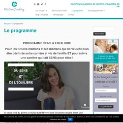 Le programme - MaternCoaching
