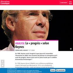 Le «progrès» selon Keynes