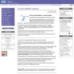 Le projet ALBADYS : Dyslexie - ASH 82