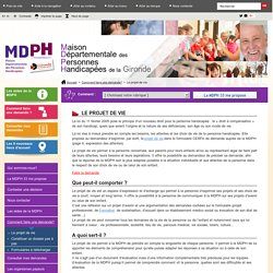 Le projet de vie - mdph33 :